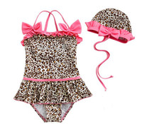XS 5T-6T Bikinis Baby girl 2-piece leopard Swimwear zebra print girls swimsuit swim pool items bath kids swim suits