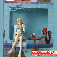 pvc decking - Japanese Anime One Piece NAMI cm Sexy PVC Toys Figure Brand New in Box Blue Bikini with Deck Chair