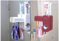 Wholesale New Automatic Toothpaste Dispenser Toothbrush Holder sets toothbrush Family sets H0051