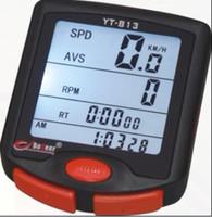 Wholesale Water proof digital odometer bicycle computer bicycle lcd cycle computer Speedometer Meter yt813