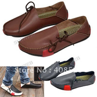 Wholesale New Fashion Men s Shoe Casual Leather Driving Shoes Color size