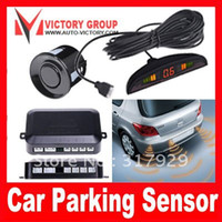 Wholesale 2012 Latest Hot Selling Sensors LED Display amp BiBi Sound Car Reverse Radar Parking Sensor Free Shi