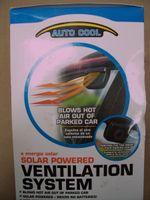 Wholesale 50PCS SOLAR SUN POWERED POWER WINDOW FAN VENTILATOR AUTO COOL AIR VENT FOR CAR VEHICLE BA12