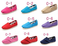 Wholesale NEW Children s or girl s boy s Classic Tom canvas shoes EVA casual glitter Flat shoes shoe pairs