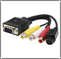 Excellent av to vga converter cable - PC LAPTOP VGA SVGA TO S Video RCA Composite AV TV Out Converter Adapter Cable