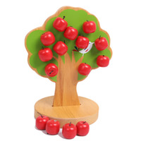 Wholesale 2pcs The toy baby learn counting magnetic apple tree children early professional educational kid toy
