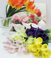 Wholesale Real Touch Latex Callas NEW HOT p cm Wedding Bouquets Artificial Simulation Calla Lily Wedding Flowers