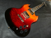 Solid Body 6 Strings Mahogany Custom Shop New Arrival Sunburst SG Model Electric Guitar OEM From China a266