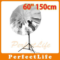 Kits Zhejiang China (Mainland) New NEW Photo Studio product 60'' 150cm Black Sliver Umbrella Hot sale