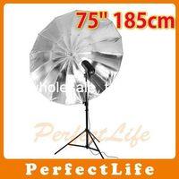 Kits Zhejiang China (Mainland) New NEW Photo Studio product 75'' 185cm Black Sliver Umbrella Hot sale