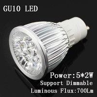 Cheap Free Shipping led spotlight GU10 E27 5X2W 10W Dimmable LED lamp bulb light 110V 220V 230V