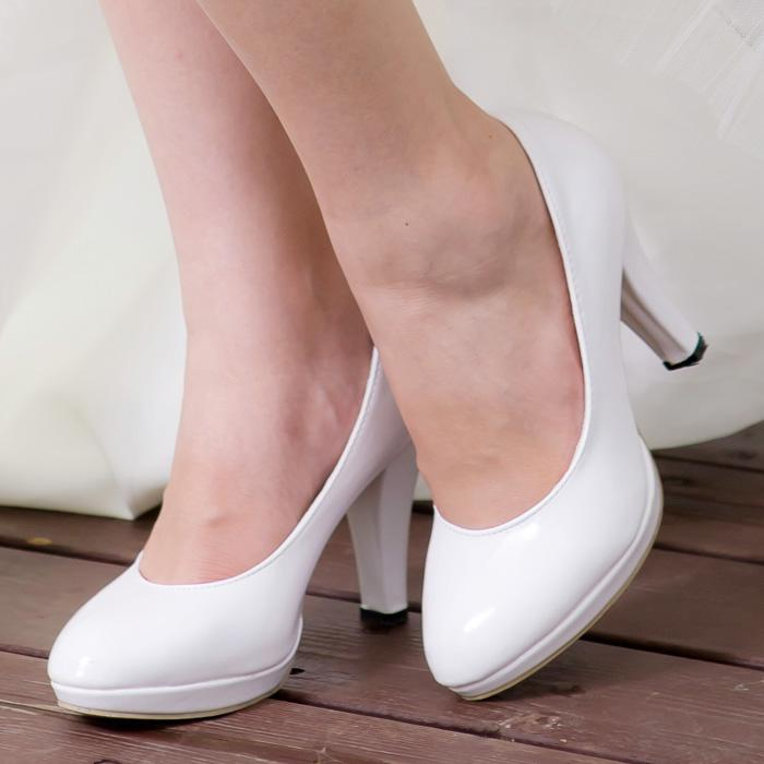 dress heel shoes Picture - More Detailed Picture about White dress