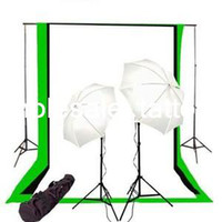 Wholesale Photo Studio Lighting Kit Black White Muslin Backdrop and Background Stand Kit