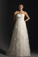 Wholesale Modest high neck A line tulle maternity bridal dresses wedding gowns dress for pregnant women