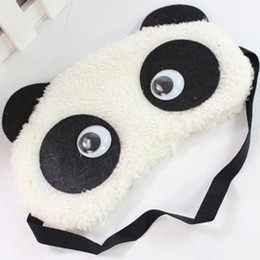 Wholesale Mixed style panda sleep masks sleeping mask eyeshade blinder blind pack Lovely fashion soft Blindes