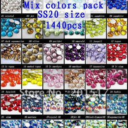 Wholesale Crystal rhinestones assorted color colors in one pack ss20 Nail Art Rhinestones
