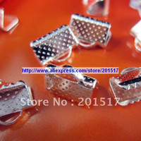 Wholesale 150pcs x0 cm silver plated color iron Cord Ends Caps Crimp jewelry findings