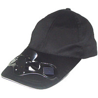 Wholesale 10PCS Solar Power Hat Cap with Cooling Fan Black Color BA01