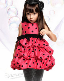 Wholesale EMS Free Ship Girls Princess Pageant Wedding Party Dresses Rose Fulll Skirt Fall Winter pc