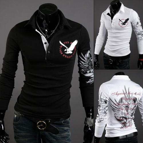 How To Sell Men's Designer Clothing Online New Fashion Eagle Tattoo Slim