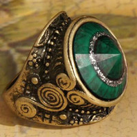Wholesale Vintage Ring Gemstone Rings Luxury man made diamond Ring cheap Fashion Ring Jewelry Finger Ring