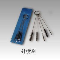 airbrush cleaner - Tattoo Machine Tip Airbrush Wire Nylon Cleaning Brush Tubes Nozzle Gun For Sale