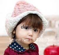 Wholesale Baby infant winter fur hat children earflap knitted beanie cap