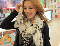Wholesale Lady scarf Fashion lady Marilyn Monroe scarf Chiffon scarves Lady Shawl Wraps Mix colors long scarf