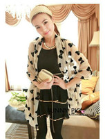 Wholesale Lady scarf Fashion lady bowknot scarf Chiffon scarves Lady beach shawl Wraps Mix colors long scarf