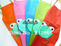 Wholesale 10pcs Frog Style Children Waterproof Apron Kid s Kitchen Pinafore For Eating Playing years Fr