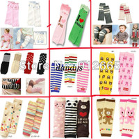 Wholesale 24 pairs cartoon baby leggings kid s knee pad children socks baby leg warmers knee warmer free s