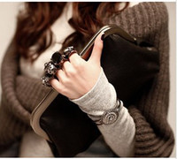Wholesale LEATHER Skull New Knuckle Ring Clutch Evening Bag Purse