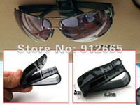 auto glass racks - 5pcs car sunglasses clip auto glasses holder business card rack four colors