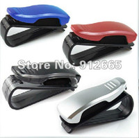 Glasses Case Zhejiang China (Mainland) black,silver,blue,red 10pcs lot car sunglasses clip auto glasses holder business card rack four colors free shipping