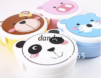 Bamboo lunch box - cartoon animal lunch box children bento boxes snack case