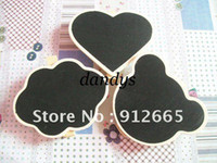 Wholesale 100pcs mini wooden easel children blackboard clip kid s message memo board