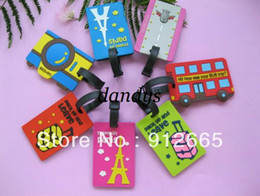 Wholesale 20pcs Fashion luggage tag pvc travel baggage Identification card suitcase label