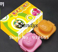 Wholesale 5 sets set rabbit bear sushi mould rice ball maker food mold cake mould