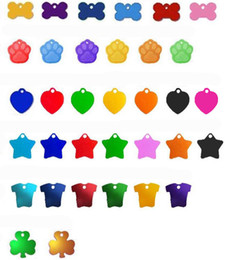 Wholesale mix variety of styles and colors metal alumina dog fashion id tag