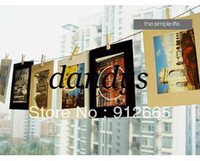 Wholesale 10sets hanging photo picture frame indoor decoration album standing wall photo frame free shippi