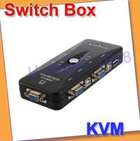 Wholesale Port USB KVM VGA SVGA connectors Switch Box Adapter For Keyboard Mouse