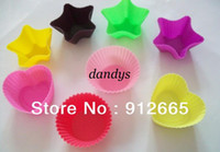 Wholesale 30pcs silicone cake mould cupcake maker pudding cup sandwich mold