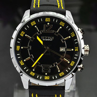 Sport Men's Round 2012 Xmas Gift New EYKI 3 ATM Waterproof PU Leather Strap Men Sports Watch Japan Movements Calendar