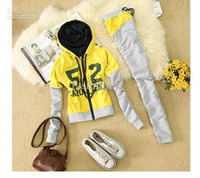 Wholesale Women s Sportswear Letters Sport Suit Leisure Korean The Sport Women s Suits Hoodie SY