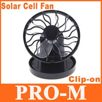 Wholesale 5pcs Clip on Solar Cell Fan Sun Power Energy Panel Cooling Cooler freeshipping