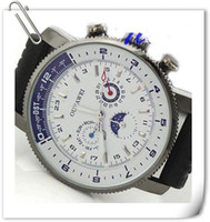 Wholesale Get Coupon Moonphase White Date Hand Black Rubber Band Mens Automatic Mechanical Watch