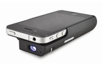Wholesale 8pcs christmas MP07 MINI Projector for Iphone4 Mini Pocket DLP Projector for Built in Battery f