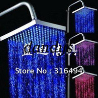 Wholesale HOT New Color Automatic Change LED Bathroom Shower self powered led shower head O