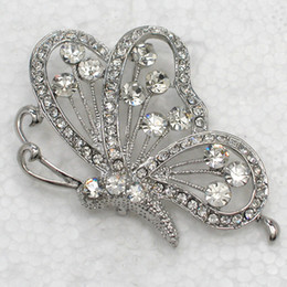Wholesale Crystal Rhinestone Butterfly Brooches Fashion Costume Pin Brooch & Pendant C636