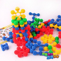Plastic baby sun block - Candice guo Funny toy colorful soft plastic blocks little sun shape baby DIY educational toy G15